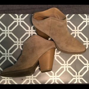Leather Heeled Ankle Half Booties dv by Dolce Vita